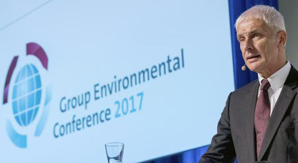 Matthias Mueller, ceo del Volkswagen Group al Group Environmental Conference