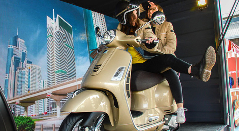 La Vespa presente alla design week in collaborazione con Peuterey